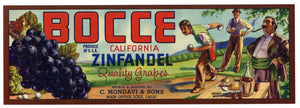 BOCCE Brand Vintage Grape Crate Label (LL166)