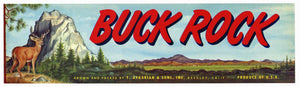 BUCK ROCK Brand Vintage Produce Crate Label (LL176)