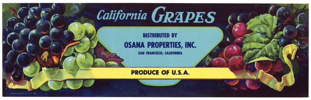 CALIFORNIA GRAPE ALL DIFFERENT Lot of 40 Old Vintage Crate LABELS Grapes