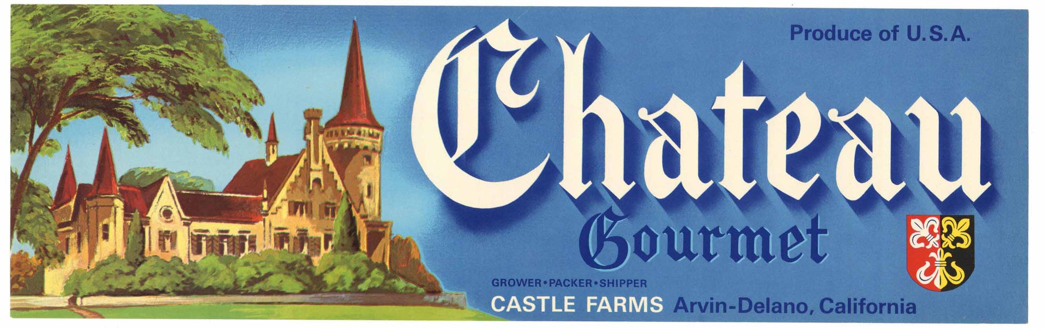 Chateau Brand Vintage Delano Grape Crate Label