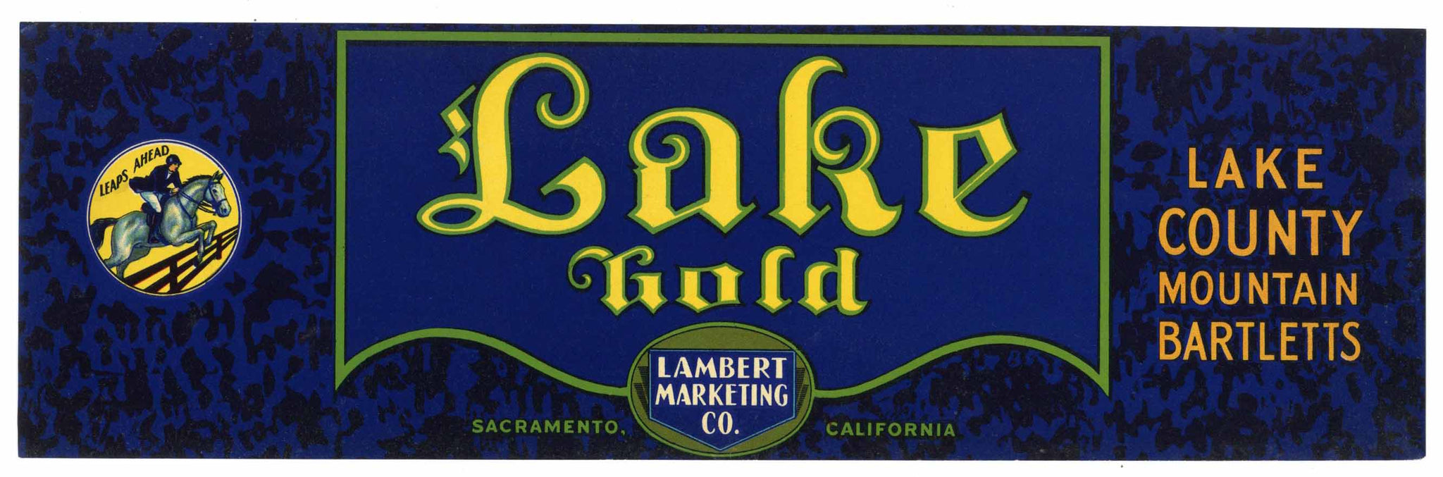 Lake Gold Brand Vintage Lake County Pear Crate Label, lug