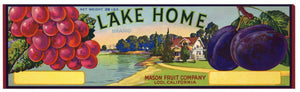 Lake Home Brand Vintage Lodi Fruit Crate Label