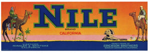 Nile Brand Vintage Grape Crate Label