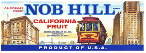 Nob Hill Brand Vintage Fruit Crate Label, n