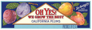 Oh Yes! Brand Vintage Plum Crate Label