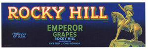 Rocky Hill Brand Vintage Exeter Grape Crate Label