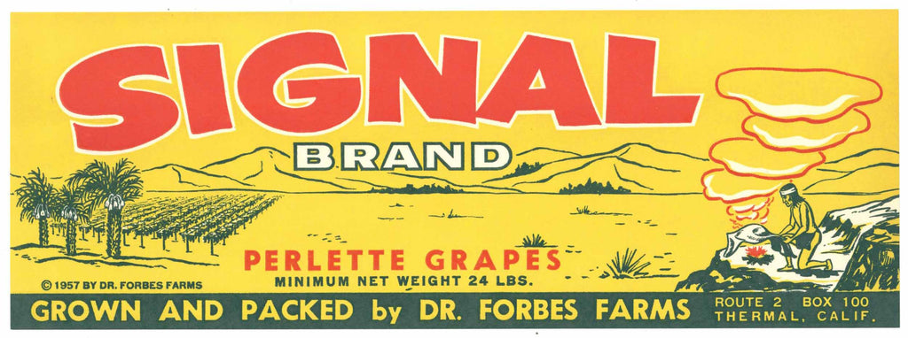 Signal Brand Vintage Coachella Valley Grape Crate Label