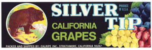Silver Tip Brand Vintage Grape Crate Label