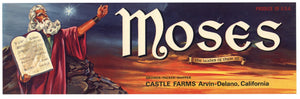 Moses Brand Vintage Fruit Crate Label