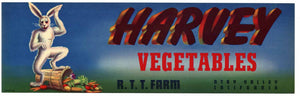 Harvey Brand Vintage Vegetable Crate Label