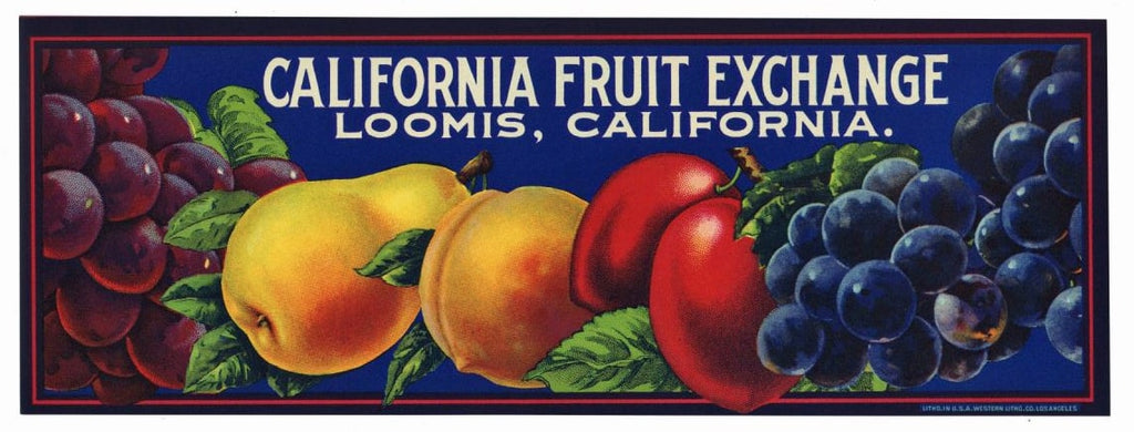 California Fruit Exchange Brand Vintage Fruit Crate Label