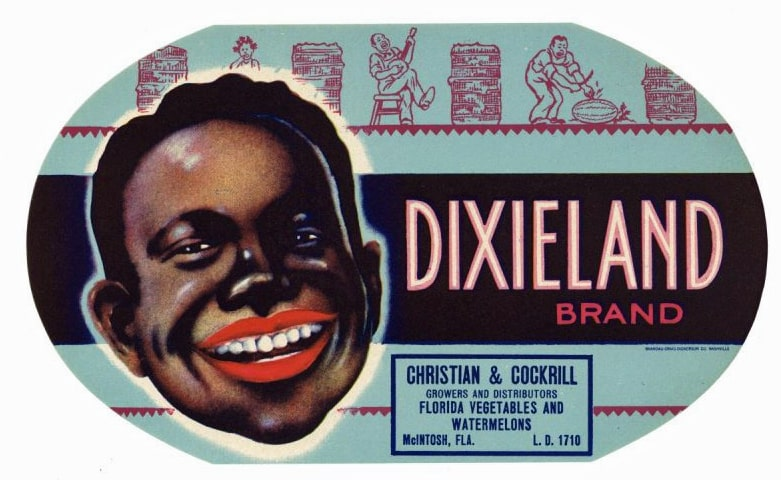 Dixieland Brand Vintage McIntosh Florida Produce Crate Label