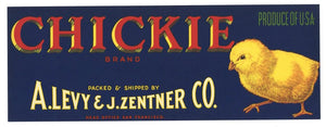 Chickie Brand Vintage Produce Crate Label