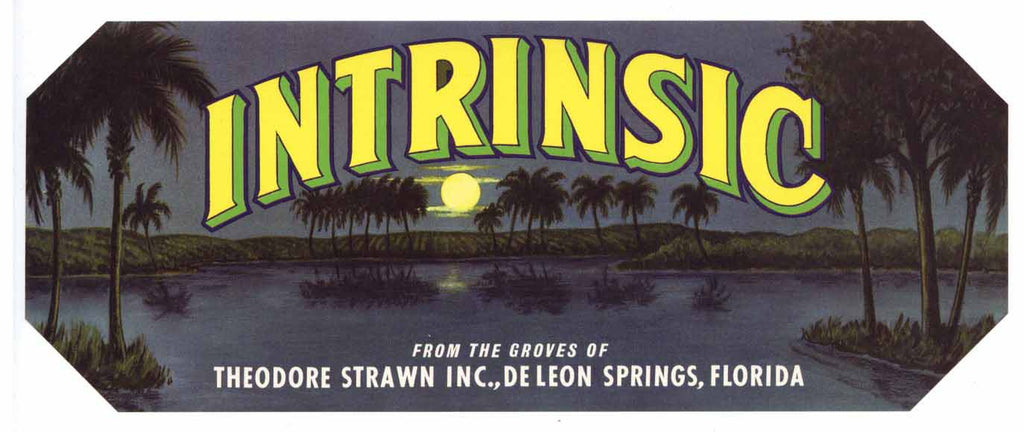 Intrinsic Brand Vintage Florida Citrus Crate Label