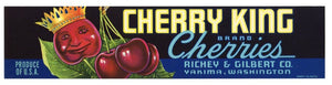 Cherry King Brand Vintage Yakima Washington Fruit Crate Label