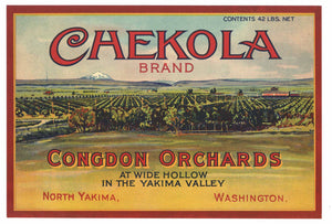 Chekola Brand Vintage Yakima Washington Pear Crate Label