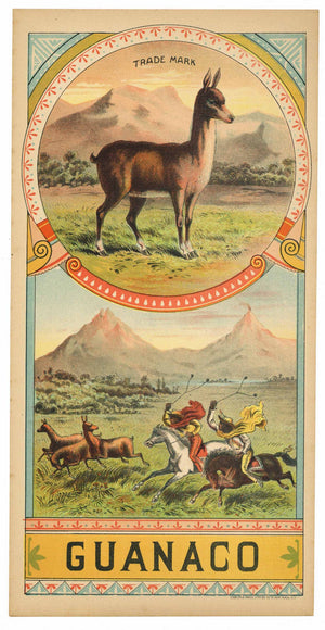 Guanaco Brand  Antique Tobacco Caddy Label
