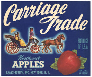 Carriage Trade Brand Vintage Northwest Apple Crate Label