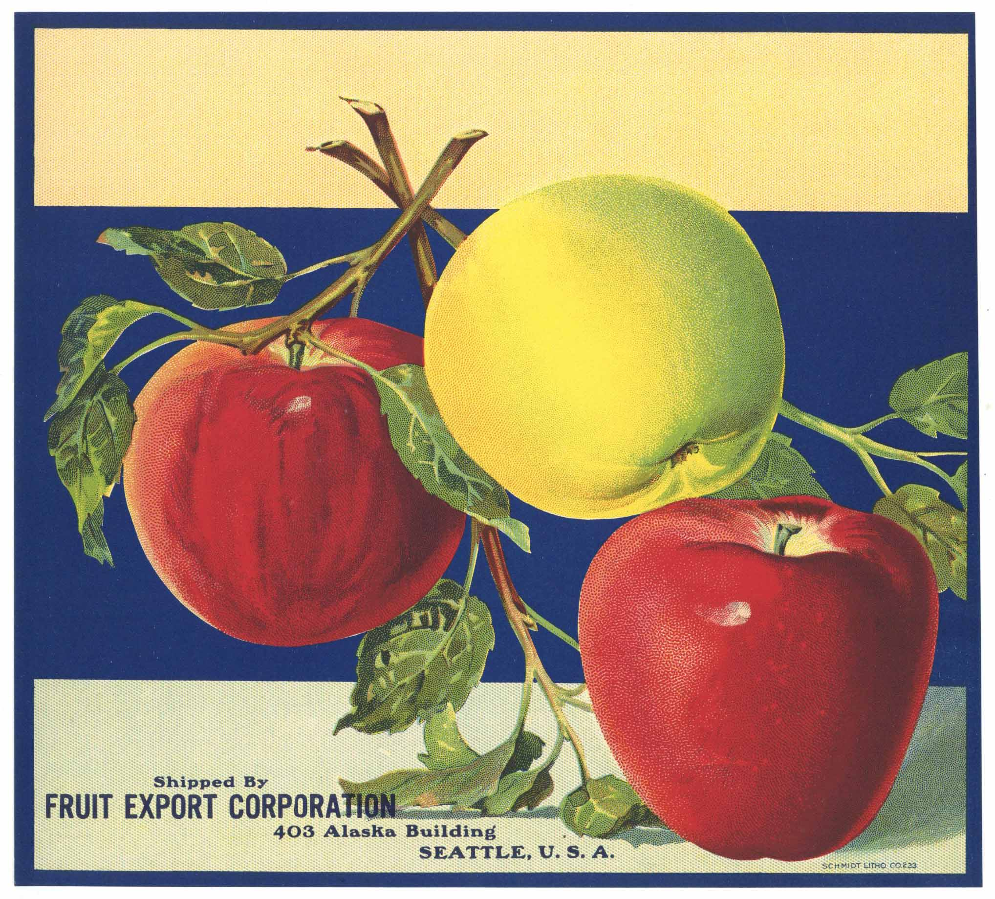 Fruit Export Corporation Brand Vintage Apple Crate Label