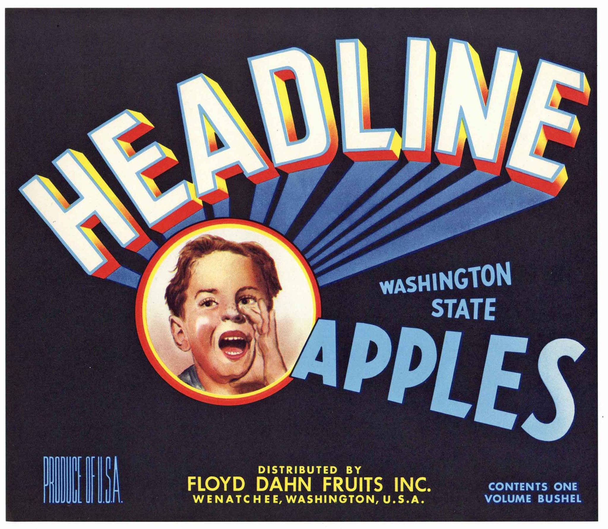 Headline Brand Vintage Washington Apple Crate Label
