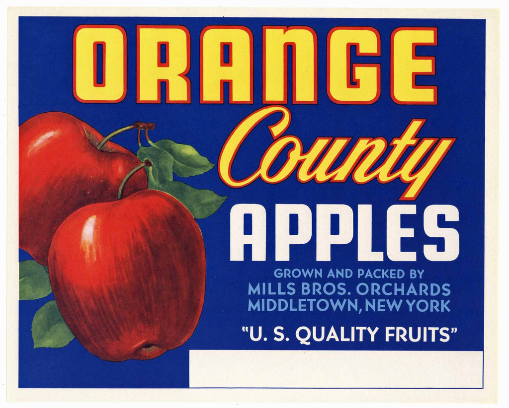 Orange Brand Middletown New York Apple Crate Label