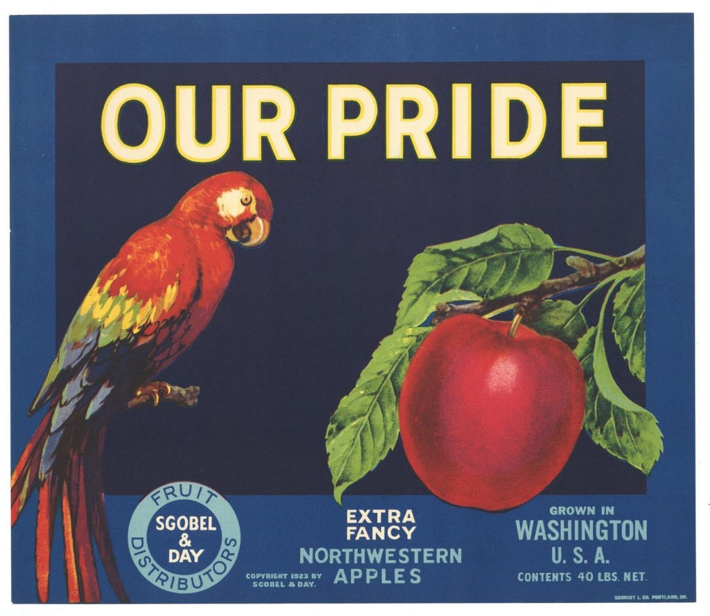 Our Pride Brand Vintage Apple Crate Label