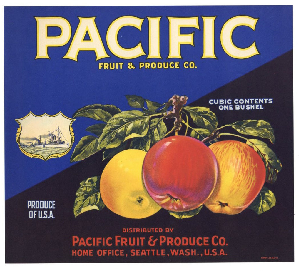 Pacific Brand Vintage Washington Apple Crate Label