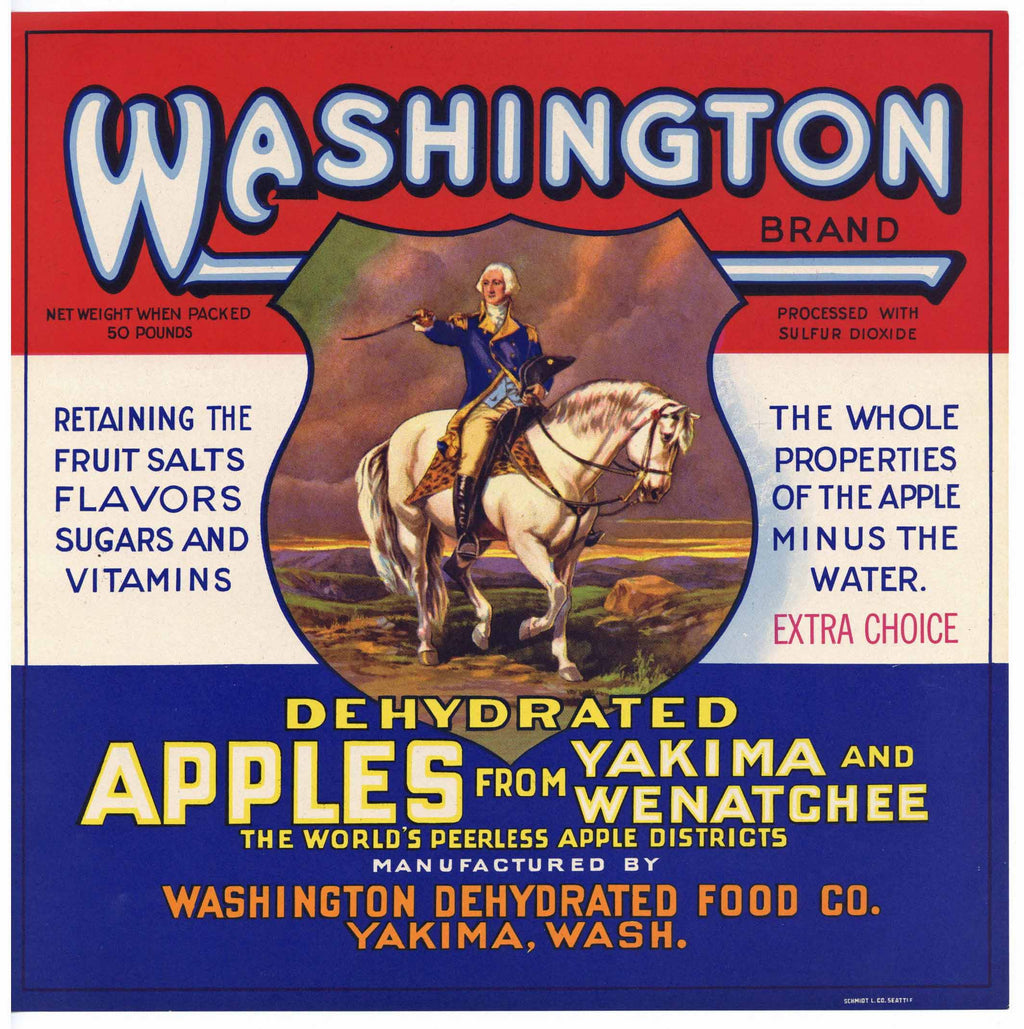 Washington Brand Vintage Yakima Apple Crate Label, George