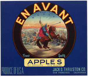 En Avant Brand Vintage  Apple Crate Label