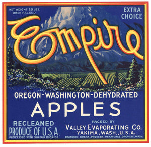 Empire Brand Vintage Washington Apple Crate Label, M