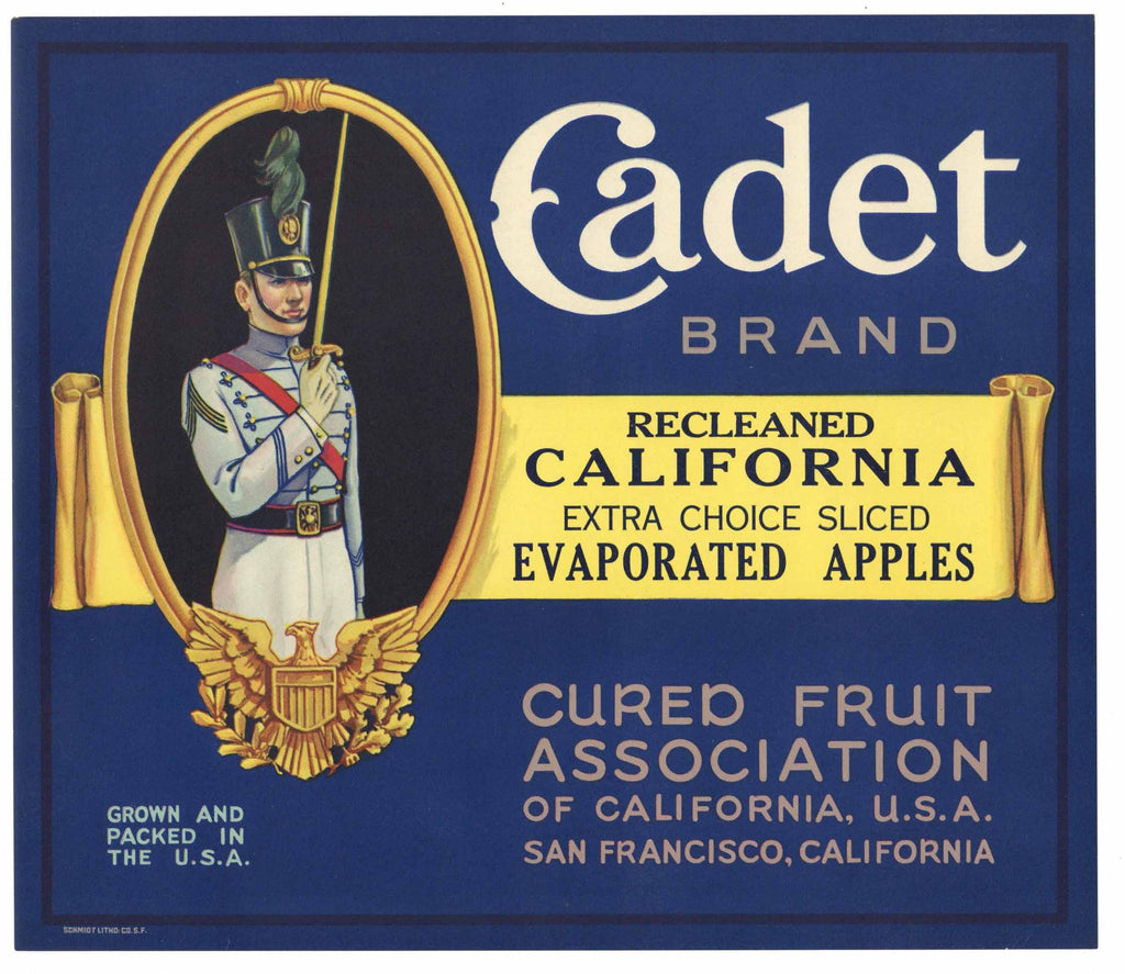 Cadet Brand Vintage Apple Crate Label, L
