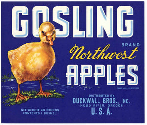 Gosling Brand Vintage Hood River Oregon Apple Crate Label b