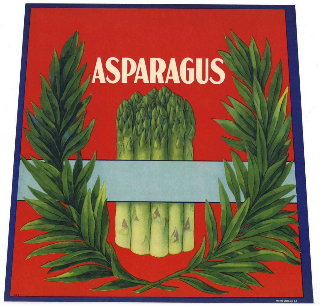Asparagus Stock #699 Vintage Vegetable Crate Label