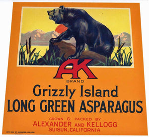 AK Brand Vintage Asparagus Crate Label (AS090)