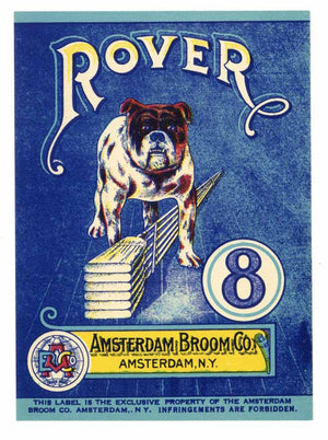 Rover Brand Vintage Amsterdam New York Broom Label