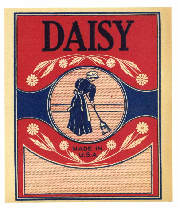 Daisy Brand Vintage Broom Label