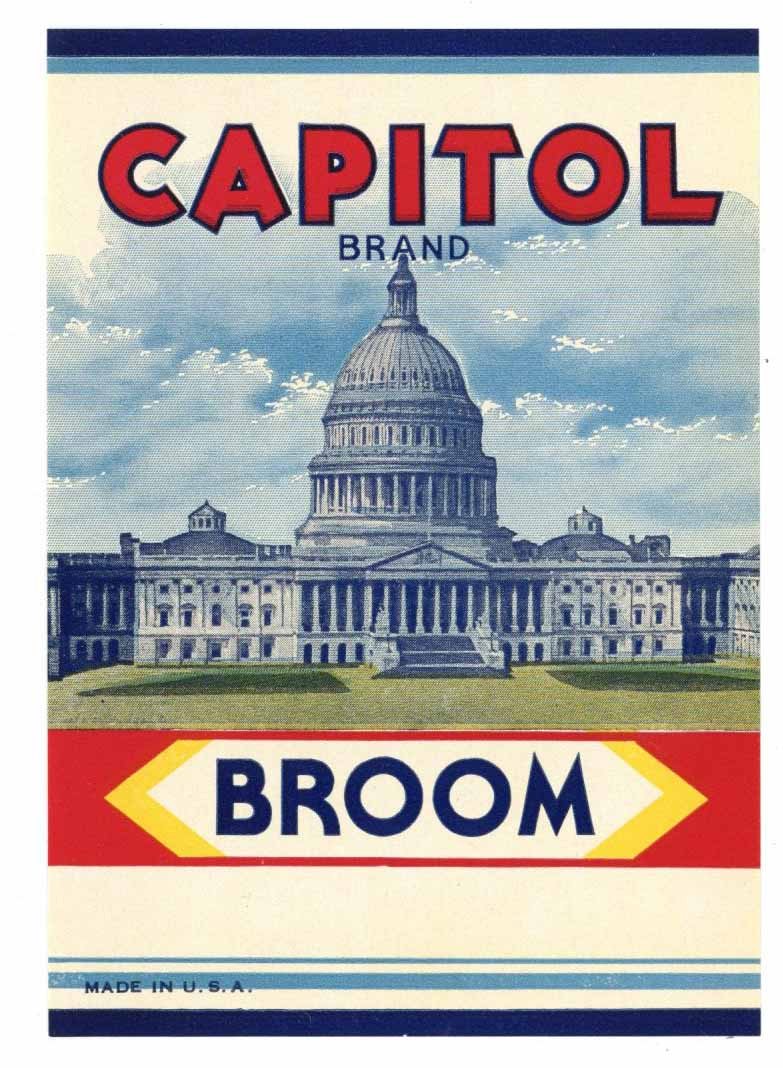 Capitol Brand Vintage Broom Label