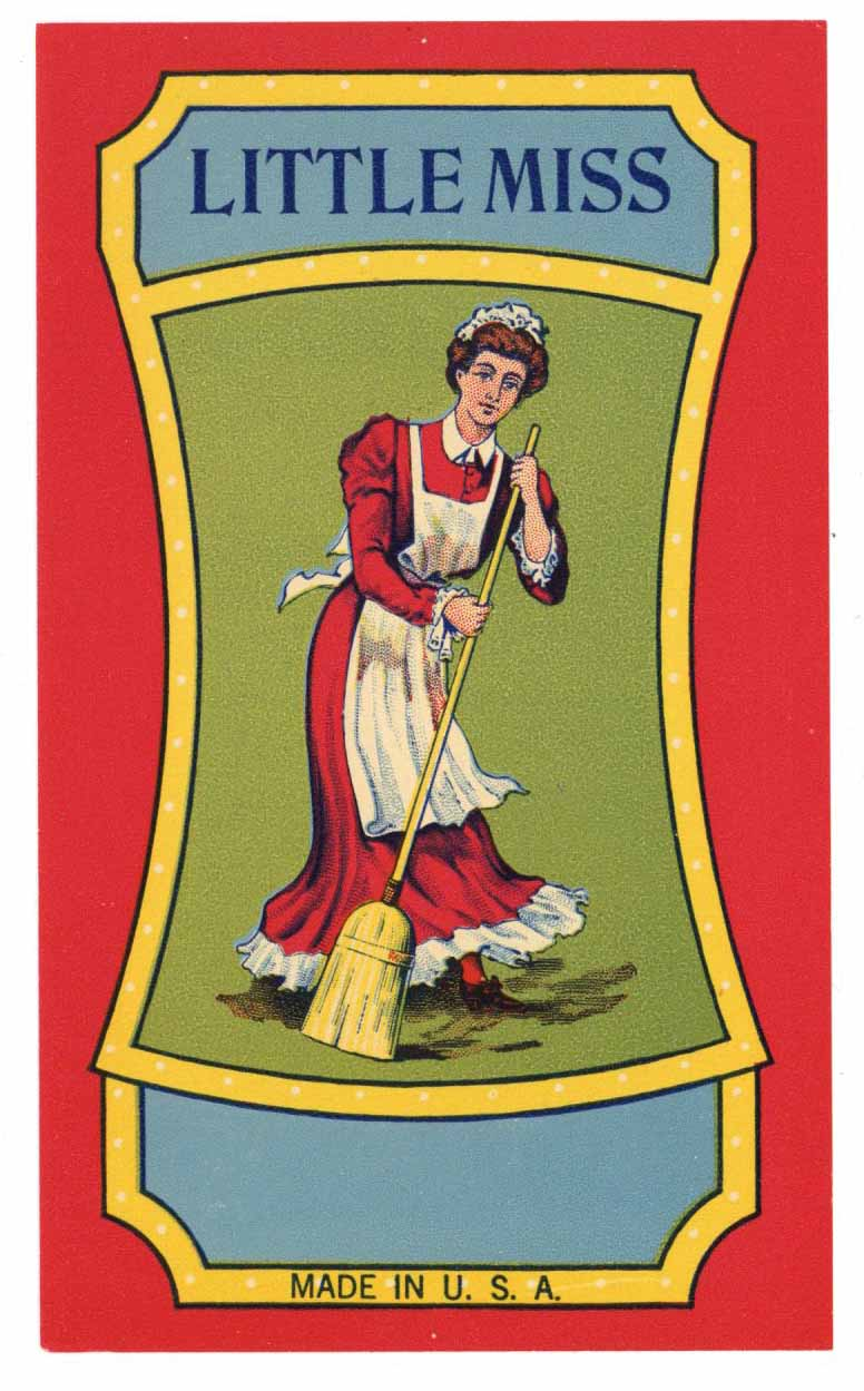 Little Miss Brand Vintage Stock Broom Label