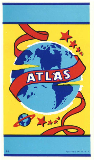 Atlas Brand Vintage Broom Label