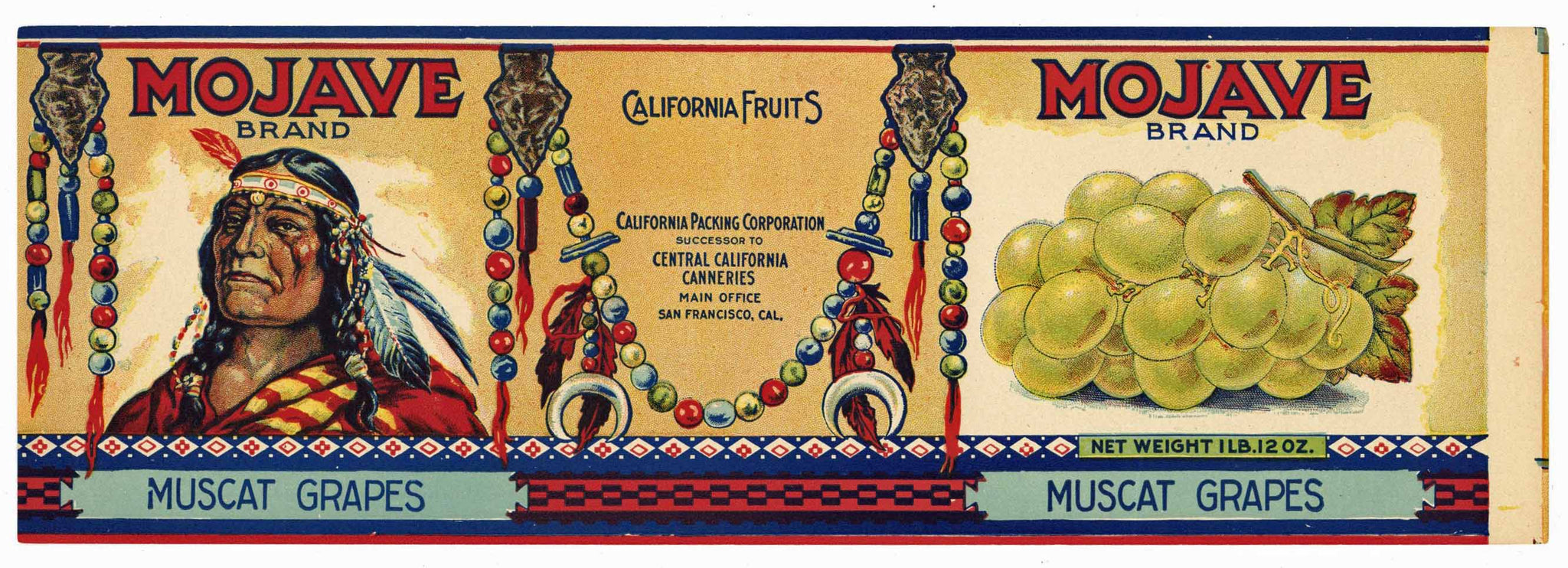 Mojave Brand Vintage Grape Can Label