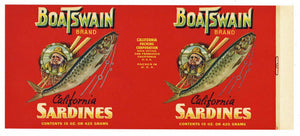 BOATSWAIN Brand Vintage Sardine Can Label (CAN0208)