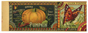 Butterfly Brand Vintage New York Pumpkin Can Label