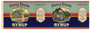 CROSS ROADS Brand Vintage Cane Syrup Can Label (CAN106)