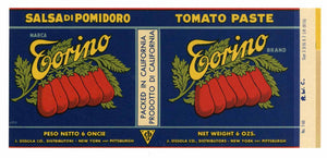 Torino Brand Vintage Tomato Paste Can Label