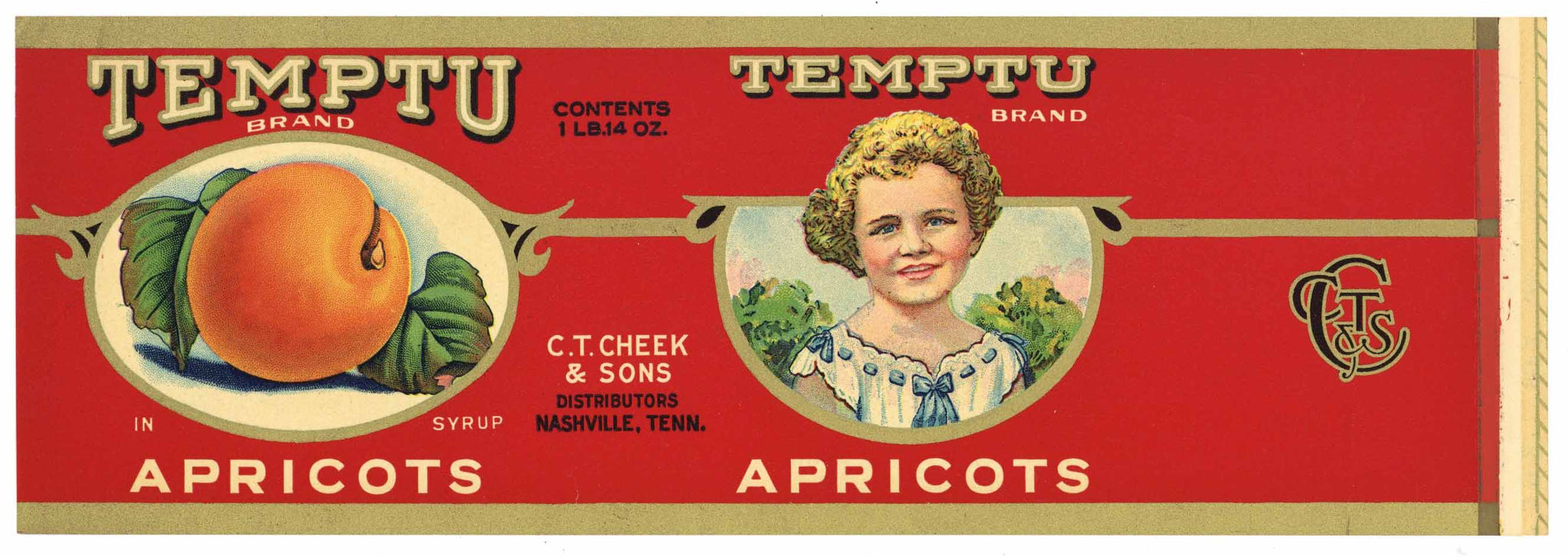 Temptu Brand Vintage Nashville Tennessee Can Label