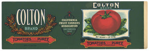 Colton Brand Vintage Tomato Can Label