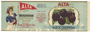 Alta Brand Vintage Black Cherry Can Label