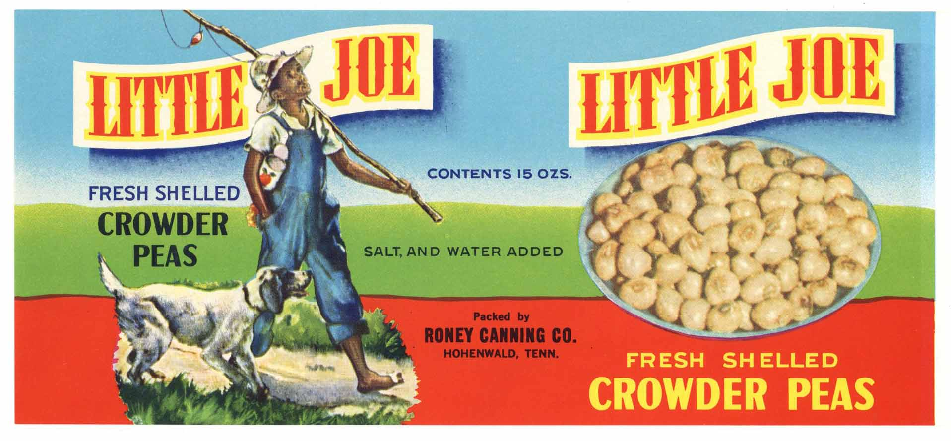 LIttle Joe Brand Vintage Hohenwald, Tennessee Can Label