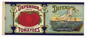 DEFENDER Brand Vintage Tomato Can Label (CAN245)