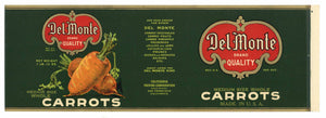 Del Monte  Brand Vintage Carrot Can Label, L